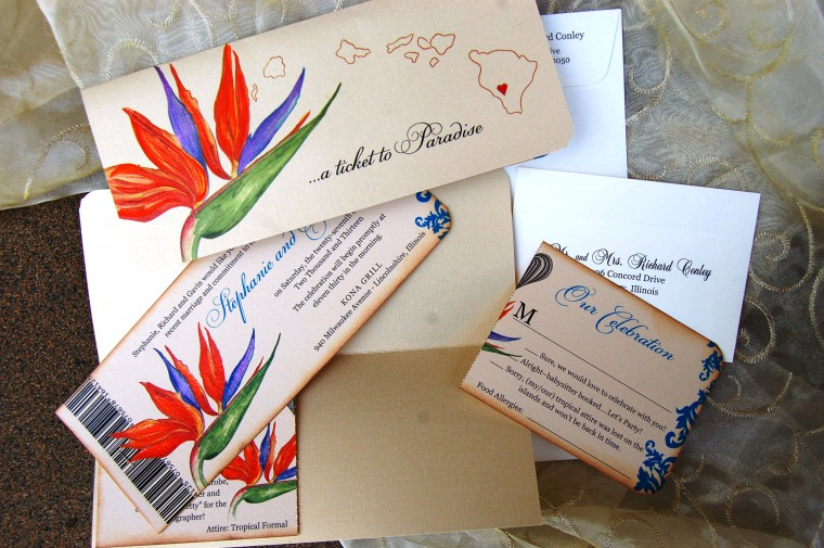 Birds of Paradise Wedding Invitations