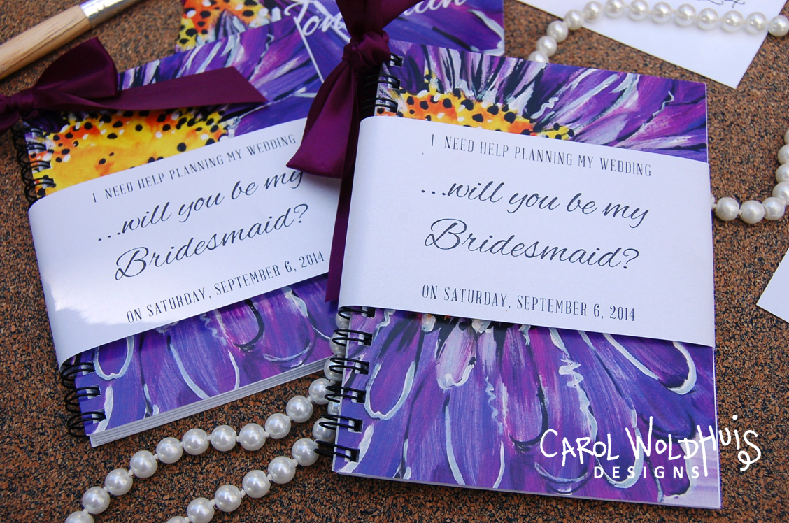 Will you be my bridesmaid pocket journals