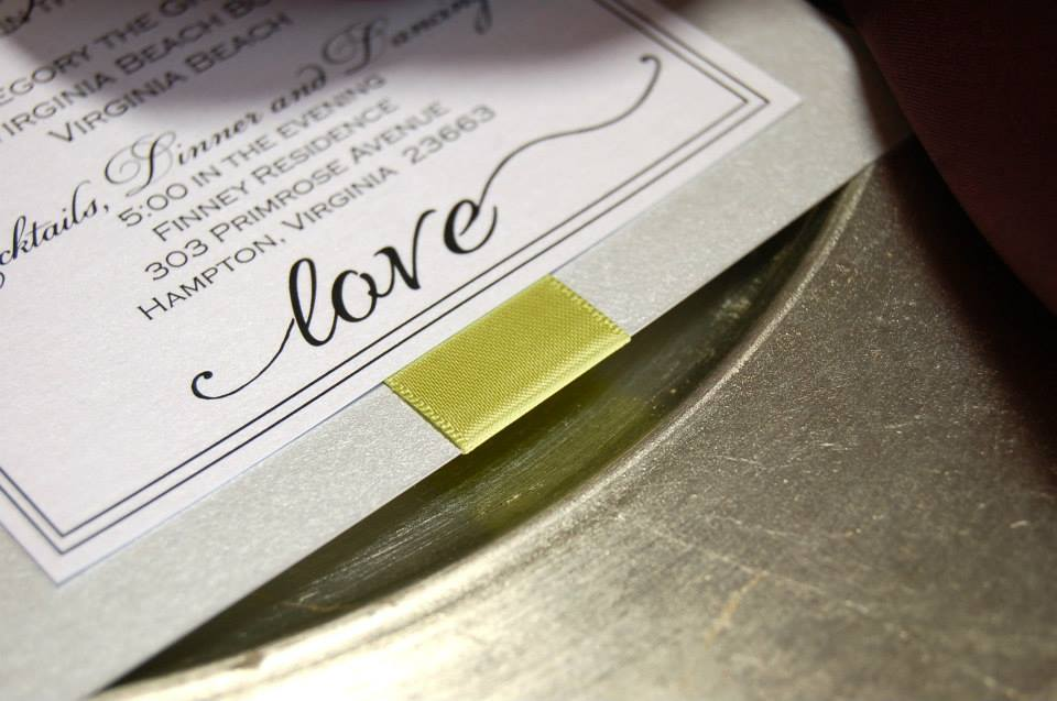 love simple invitation