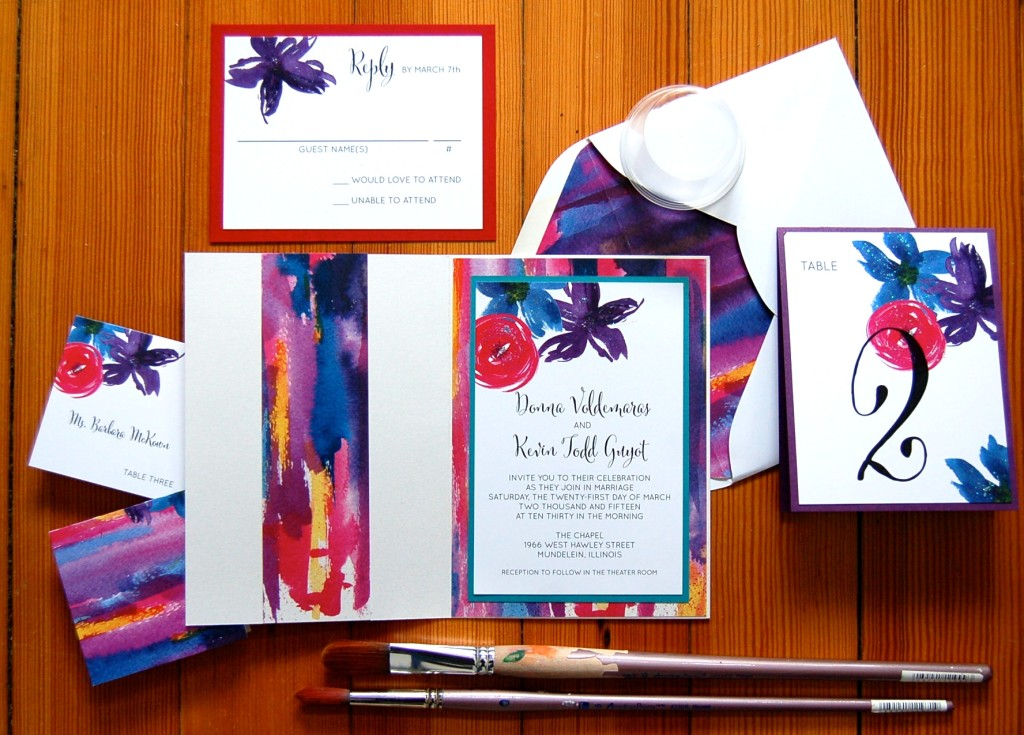 donna and kevin inspiration and stationery watercolor contemporary