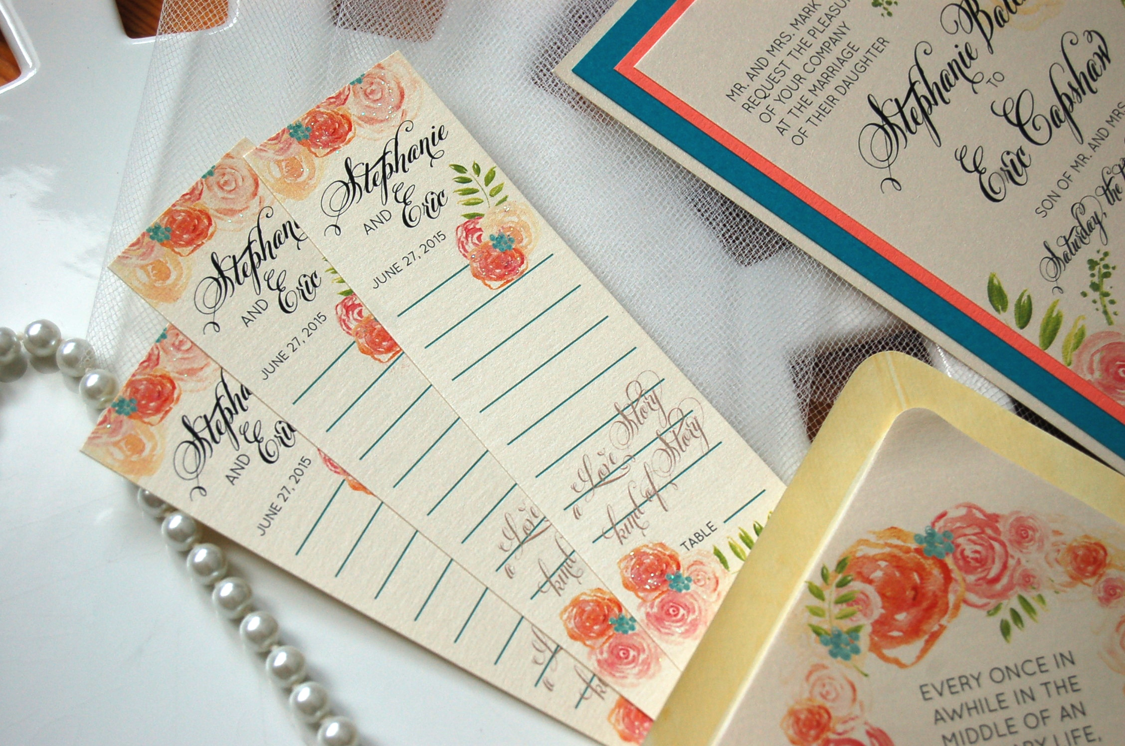 book marker escort cards