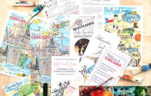 wedding maps, watercolor wedding maps, welcome bag maps, custom maps, wedding invitations, wedding maps